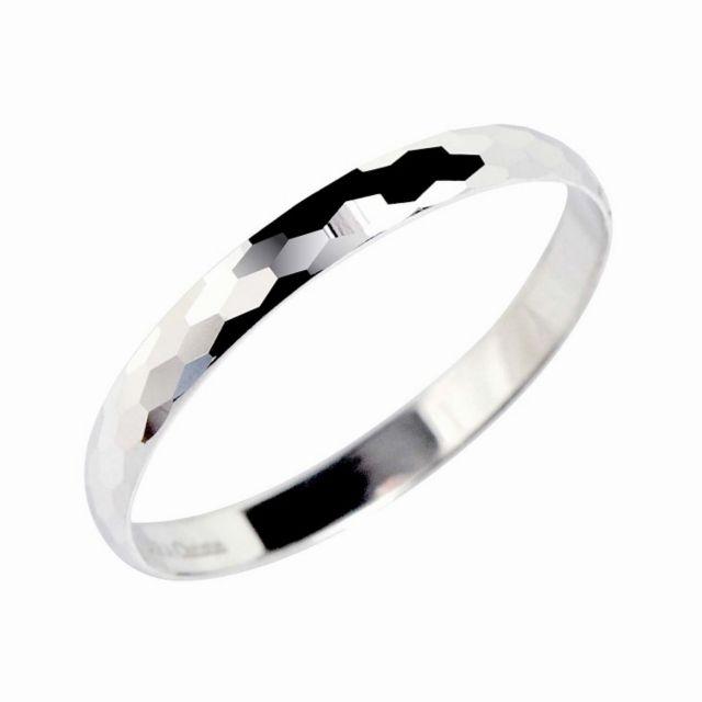 ゴールドリング 指輪  ジオメトリーマリッジ リング K18WG ララクリスティー