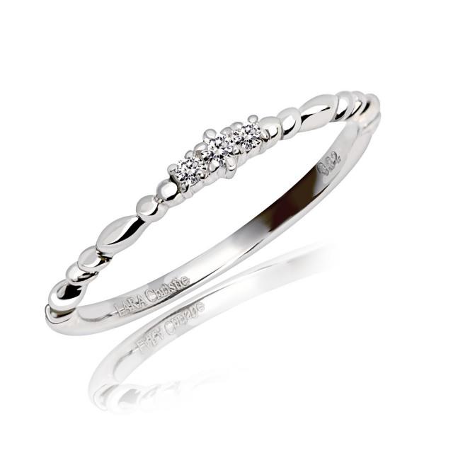 ダイヤモンド ピンキー リング 計0.02ct PT900 lr56-0003