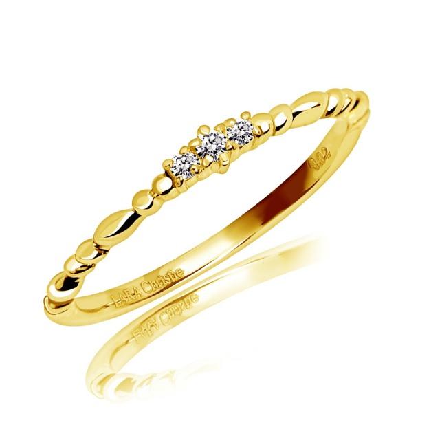 ダイヤモンド ピンキー リング 天然ダイヤモンド 計0.02ct PT900 LARA Christie