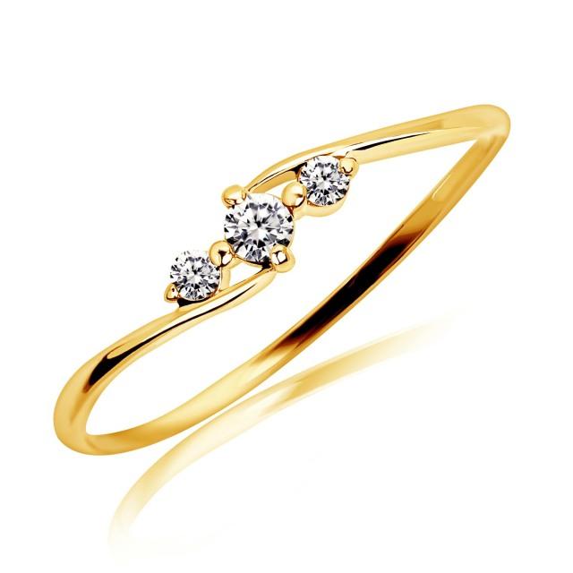 ダイヤモンドリング 指輪 0.1ct エターナル エンゲージ K18 イエローゴールド
