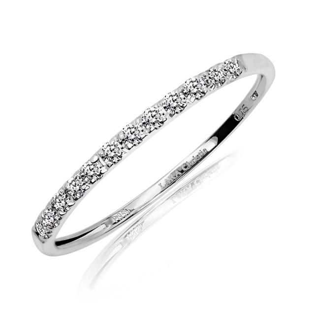 ララクリスティー プラチナ ハーフエタニティ リング 指輪 ダイヤモンド