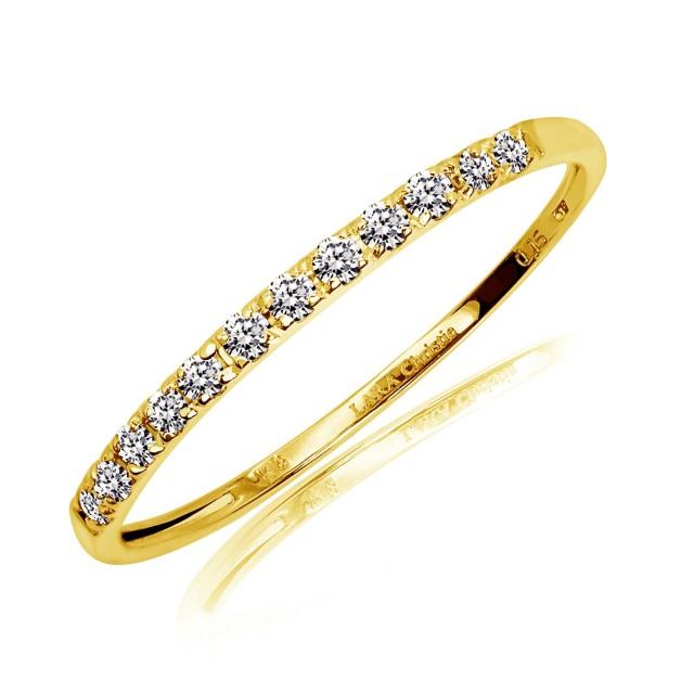 ララクリスティー K18イエローゴールド ハーフエタニティ リング 指輪 ダイヤモンド