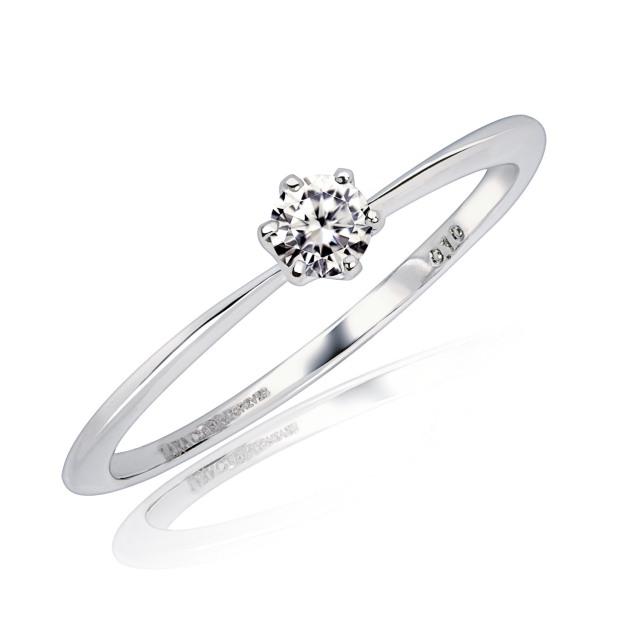 ダイヤモンド フォーエバー リング 0.1ct PT950 lr71-0003