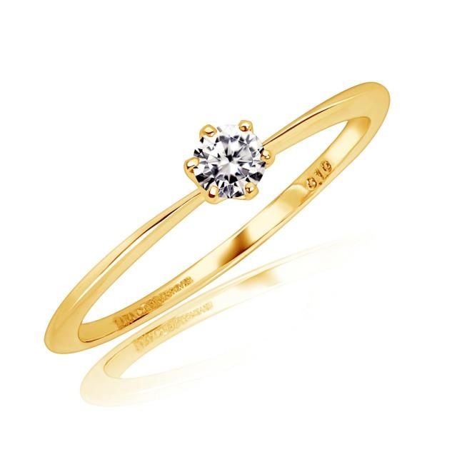 ダイヤモンド フォーエバー FOREVER リング 天然ダイヤモンド 0.1ct K18 ゴールド