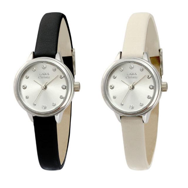 腕時計 レディース ウォッチ スワロフスキー・クリスタル LARA Christie ララクリスティー lw03-0001の正面