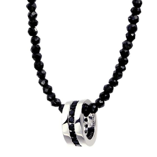 LARA Christie (ララクリスティー) エタニティ ネックレス BSモデル [BLACK Label ] シルバー ネックレス メンズ p471-bs-b