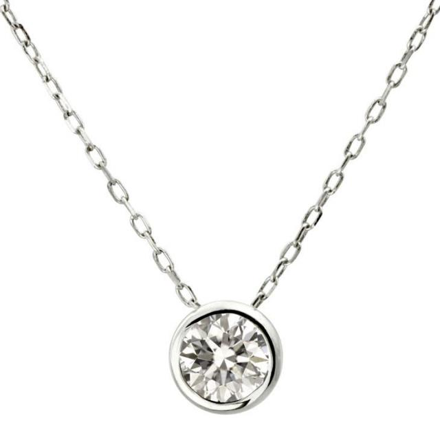 ララクリスティー ダイヤ 0.2ct 1粒 ネックレス K18