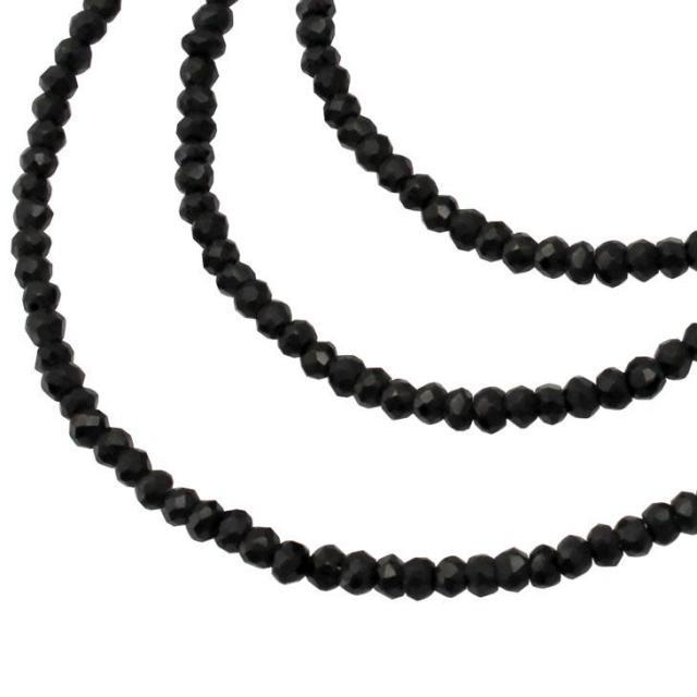 LARA Christie (ララクリスティー) ブラック スピネル ネックレス p5059