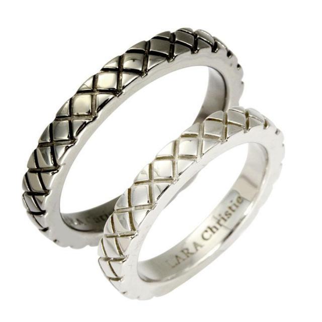 LARA Christie (ララクリスティー) スノーブラスト ペアリング [ PAIR Label ] シルバー ペアリング 指輪 r3874-p