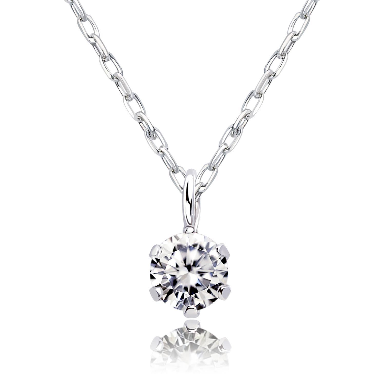 1粒 ダイヤモンド 0.1ct ネックレス プラチナ Pt900の画像