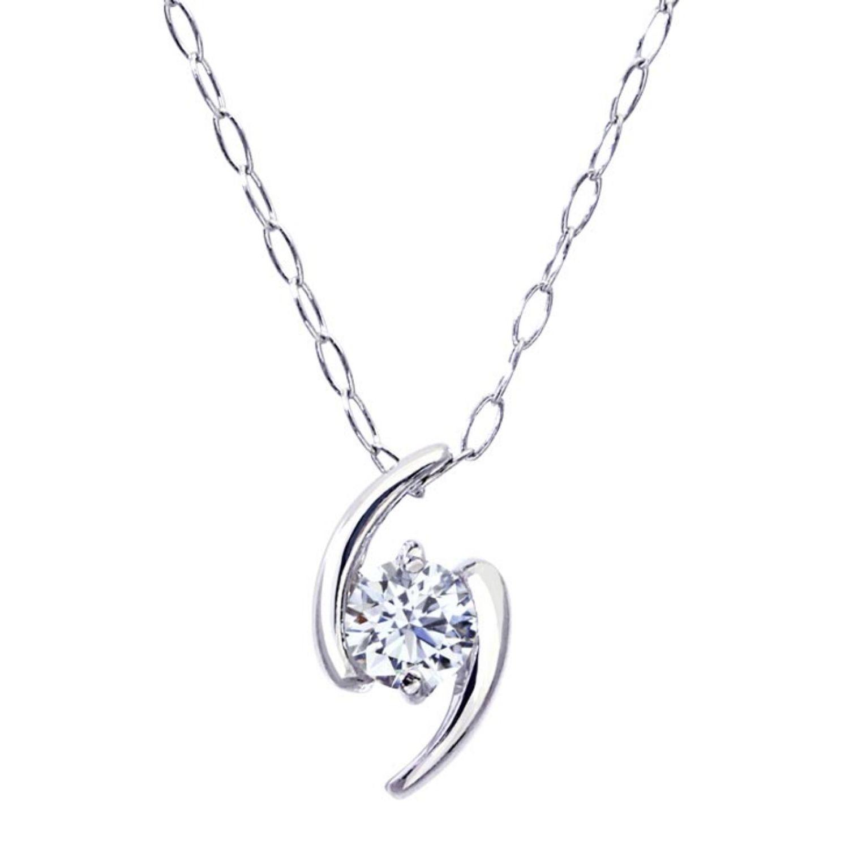 ララクリスティーの商品1粒 ダイヤモンド 0.1ct デザイン ネックレス プラチナ Pt900