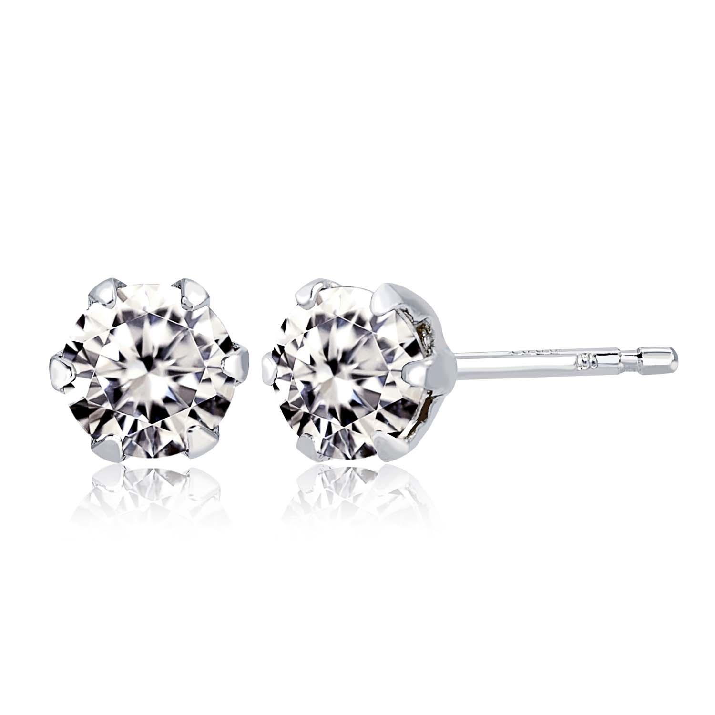 1粒 ダイヤモンド 0.3ct ピアス プラチナ Pt900の画像