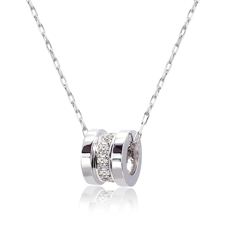 ダイヤモンド エタニティ ネックレス 0.15ct SIクラス・Hカラー 11石 PT900 プラチナ ララクリスティー
