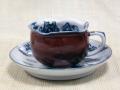 赤塗山水珈琲碗皿