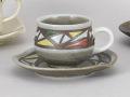ステンドグラスコーヒー碗皿