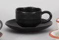 黒柚子ゆったりコーヒー碗皿