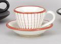 赤一珍十草コーヒー碗皿