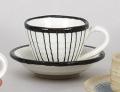 黒一珍十草コーヒー碗皿