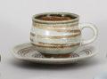 白志野渦巻コーヒー碗皿
