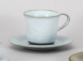 フローラ白天目コーヒー碗皿