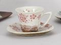 平安桜 赤碗皿