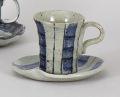 藍太十草コーヒー碗皿