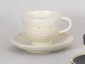 白ポルカコーヒー碗皿