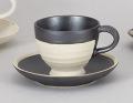 黒ポルカコーヒー碗皿