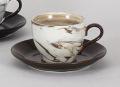 ねりこみ(茶)コーヒー碗皿