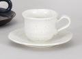 白釉Nウェーブコーヒー碗皿