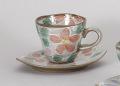 赤桜コーヒー碗皿