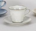 黒陶粉引コーヒー碗皿
