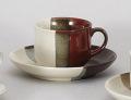 赤茶ヌリ分コーヒー碗皿