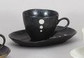 黒ドットコーヒー碗皿