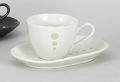 白ドットコーヒー碗皿