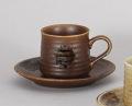 赤伊賀コーヒー碗皿