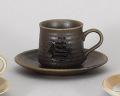 黒伊賀コーヒー碗皿