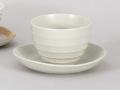 粉引カプチーノ碗皿