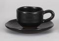 黒柚子ゆったりデミタスコーヒー碗皿