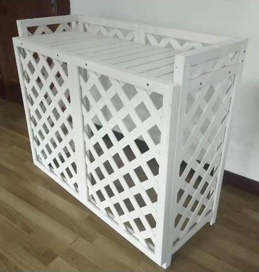 ラティス風室外機カバー(白色)