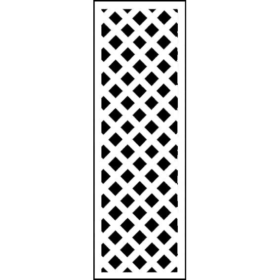 人工木ラティス 1545ホワイト - JAN1266