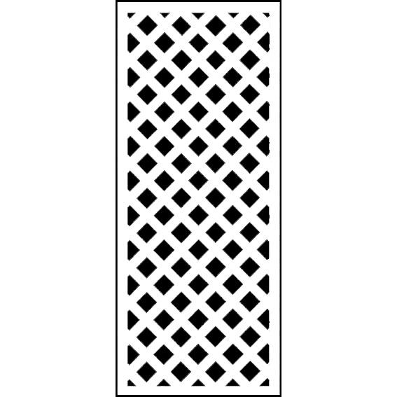 人工木ラティス 1560ホワイト - JAN1259