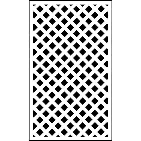 ホワイト格子ラティス1500×900
