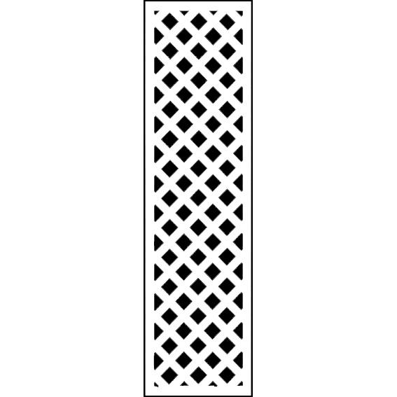 人工木ラティス 1845ホワイト - JAN1235