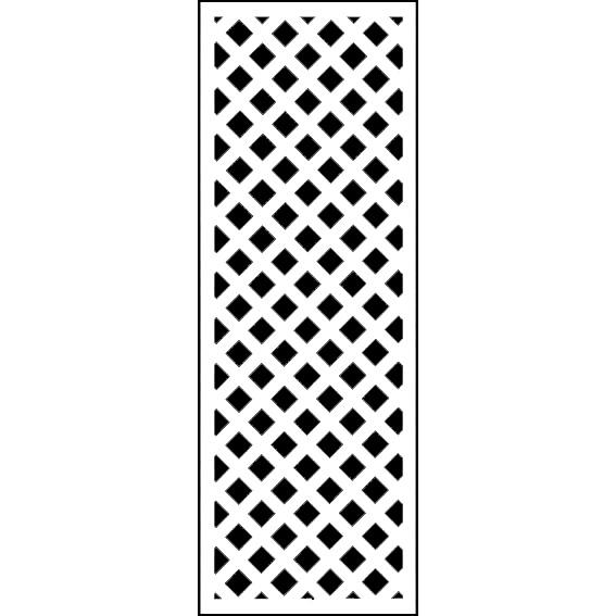 ホワイト格子ラティス1800×600