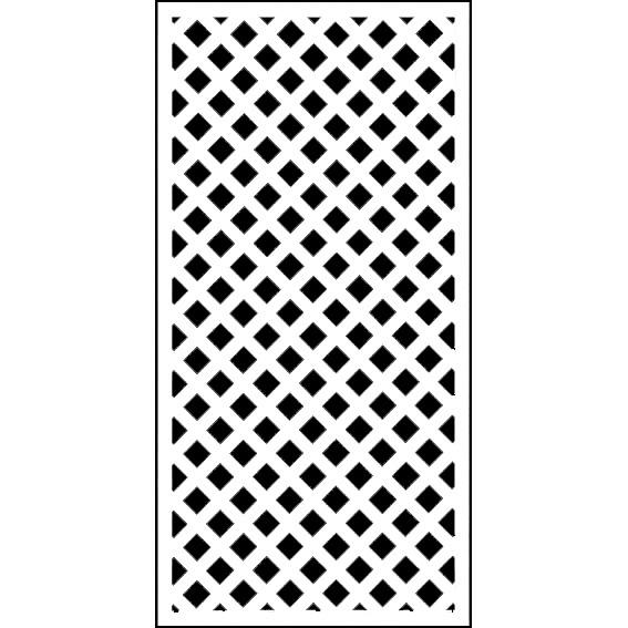ホワイト格子ラティス1800×900