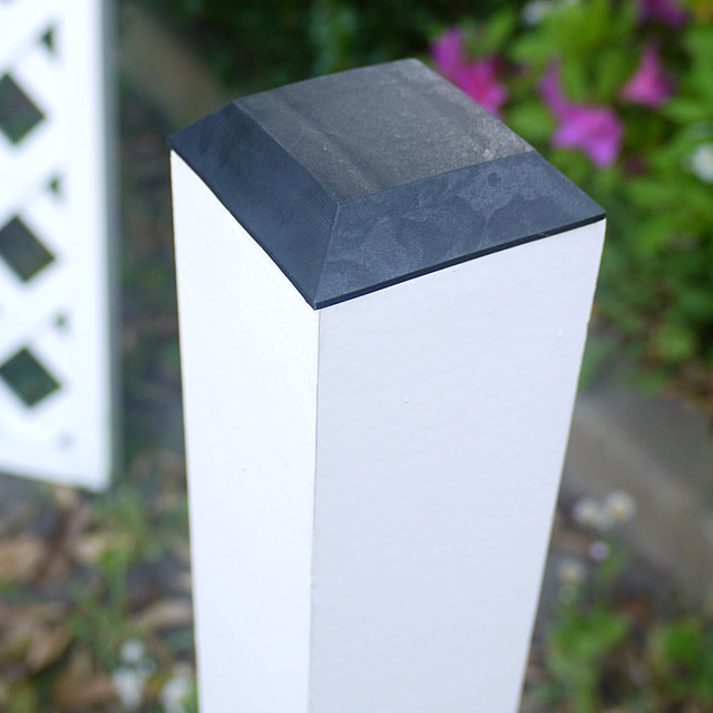 人工木60角ホワイト塗装ポスト2100