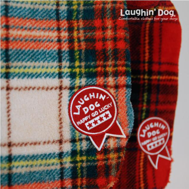 ラフィンドッグ 冬の寒さから愛犬を守るボアフリースジャケット チェック