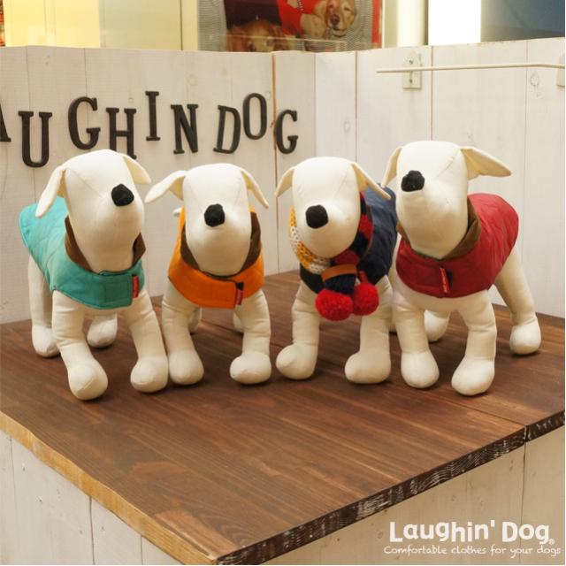 Laughin' Dog ラフィンドッグ 2ステップで着脱簡単。キルトジャケット レッド/ネイビー/ターコイズ/イエロー