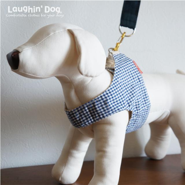 Laughin' Dog ラフィンドッグ ウエアハーネスギンガムチェック トリコロール/ブルー
